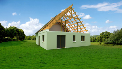 Architecture model in construction site