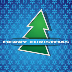 Green Christmas tree-applique