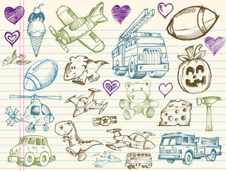 Sketch Doodle Vector Design Illustration Set