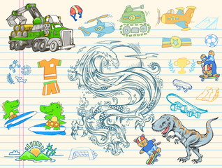 Doodle Sketch Vector IllustrationDesign Elements