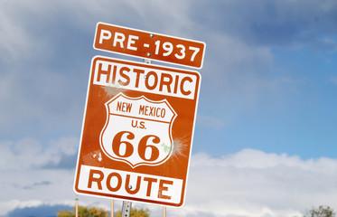 Foto auf AluDibond Route 66 Prehistoric Route 66