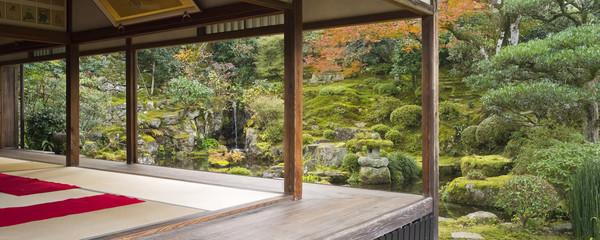 Aluminium Prints Place of worship japanisches Teehaus