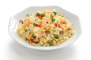 fried rice, chinese cuisine, yangzhou style