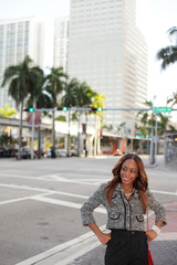 Woman at Downtown Miami