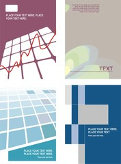 Set of corporate template backgrounds