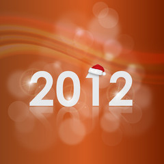 Vector New Year card 2012 with back light and place for your tex