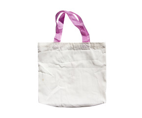 White reusable shopping bag  isolate on white background