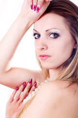 Skin and beauty care - young beautiful female