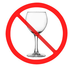 """Sign """"No alchohol"""" isolated on white"""