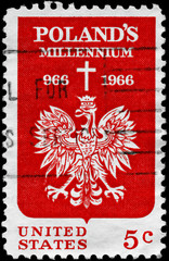 USA - CIRCA 1966 Polish Eagle