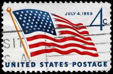 USA - CIRCA 1959 Flag