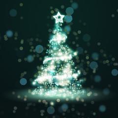 christmas tree of light