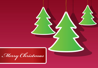 Beautiful Christmas tree labels