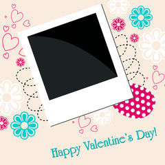 Romantic floral background with photo