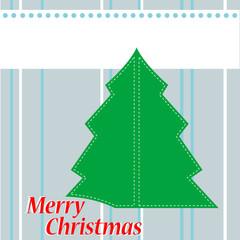 Christmas Tree Card with the words Christmas