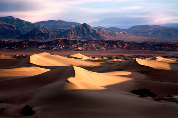 Early Morning Sand Dunes In Death Valley NP, California