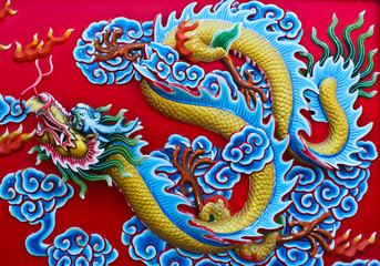 dragon on the wall