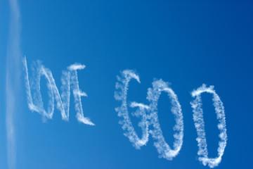 Love God written in the sky