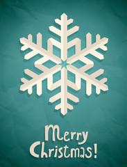 Wall Mural - Christmas postcard with snowflake