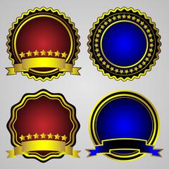 Four gold-framed