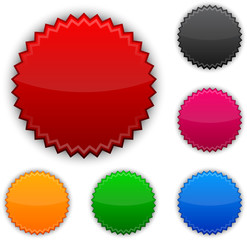 Glossy round award buttons.