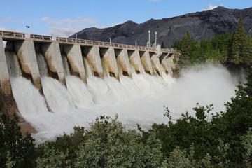 Photo sur Toile Barrage Hydro Electric Dam Spillway