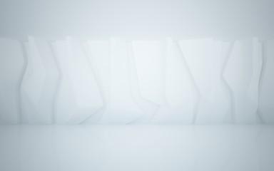 Winter interior of ice and snow.