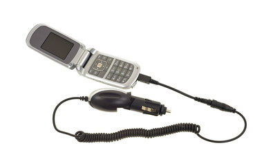 Cell phone with car charger
