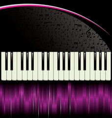 Piano - purple background