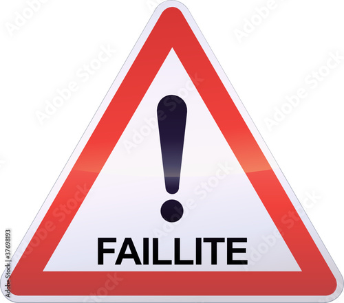 """""""Panneau de danger Faillite (détouré)"""" fichier vectoriel ..."""