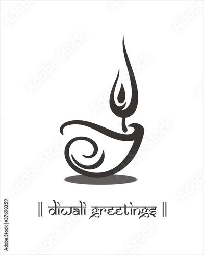 """""""Oil lamp, Diwali greetings card, royal Rajasthan, India ...  """"Oil lamp,..."""