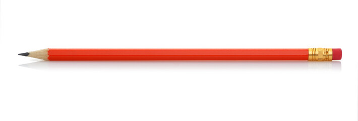 Red pencil with eraser