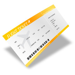 Billet d'avion - boarding pass