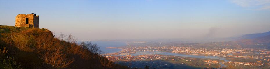 View from the viewpoint of Jaizkibel, Hondarribia, Gipuzkoa
