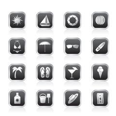 Summer and Holiday Icons - Vector Icon Set