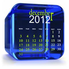 Blue December Calendar