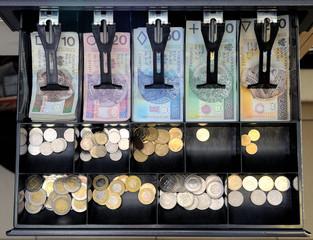 Fototapeta Szuflada z pieniędzmi obraz