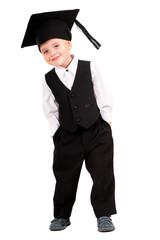 Little boy dressed Bachelor cap