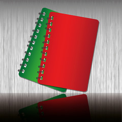 Red and Green two tone notebook