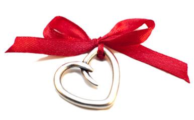 coeur argenté cadeau saint Valentin