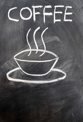 Coffee written on blackboard