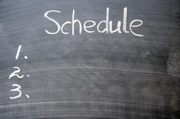 Schedule list