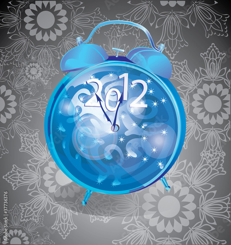 elegant new year background with clock