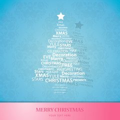Christmas tree of Christmas words.