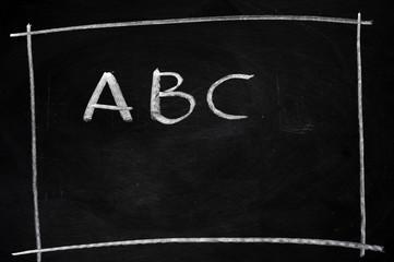 ABC written on blackboard