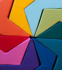 Colorful cushion arrangement