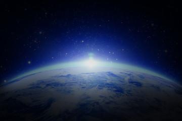 World with sunrise