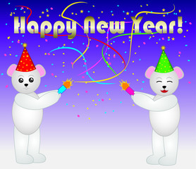 Confetti New Year Bears
