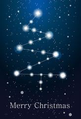 Constellations - christmas tree on the sky