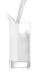 pouring a glass of milk
